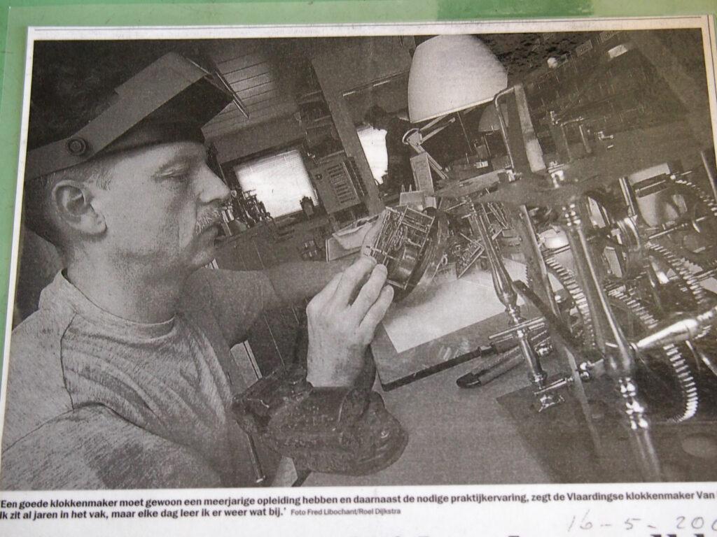 De klokkenmaker in de krant